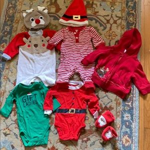 Lot of 8 Christmas pieces 3 mos
